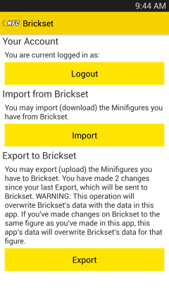 Brickset Import/Export